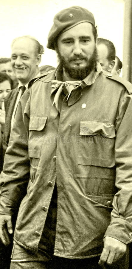 Yangiyer Fidel parmi les gens en mai 1963 images stock