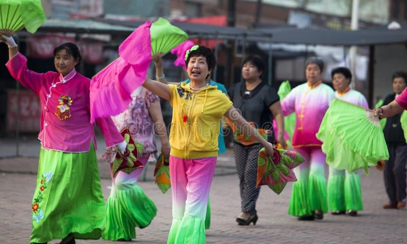 Yangko-A Popular Chinese Rural Dance Editorial Stock Image