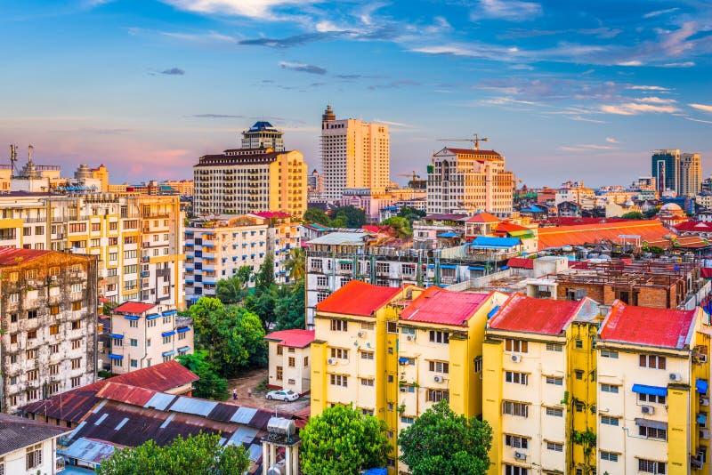 Yangon, arquitetura da cidade de Myanmar foto de stock royalty free