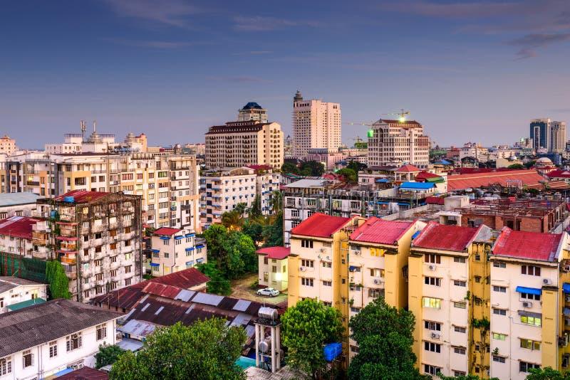 Yangon do centro fotos de stock