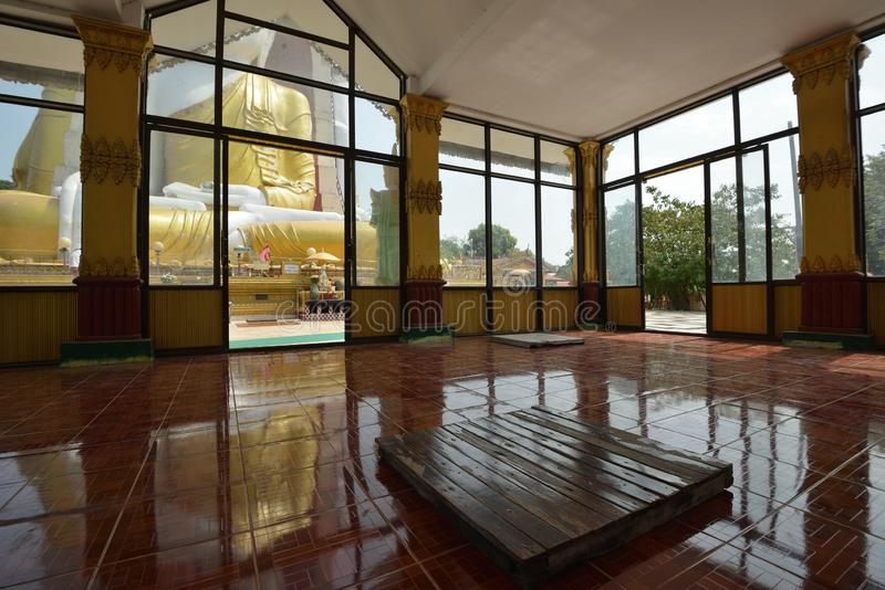 Yangon Kyaik Pon Pagoda Bago. Yangon Kyaikpun Pagoda worship house area stock photo