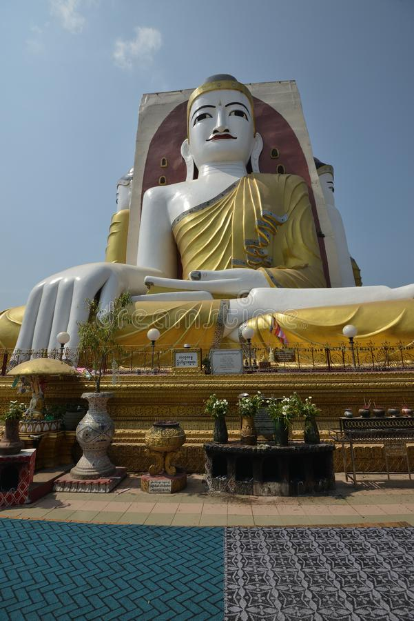 Yangon Kyaik Pon Pagoda Bago. Yangon Kyaikpun Pagoda Four Seated Buddha royalty free stock photos