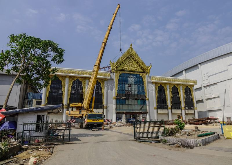 Old terminal of Yangon Airport royalty free stock images