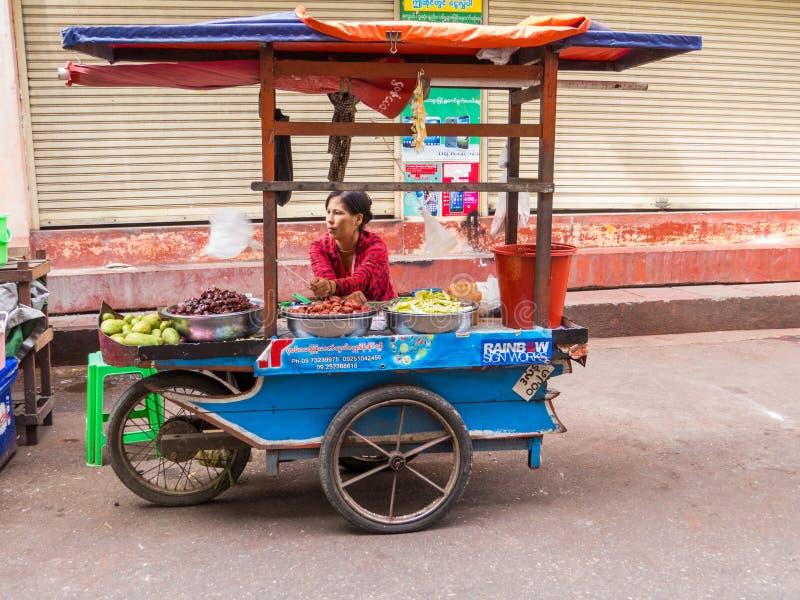 Street Food in Yangon, Myanmar stock image