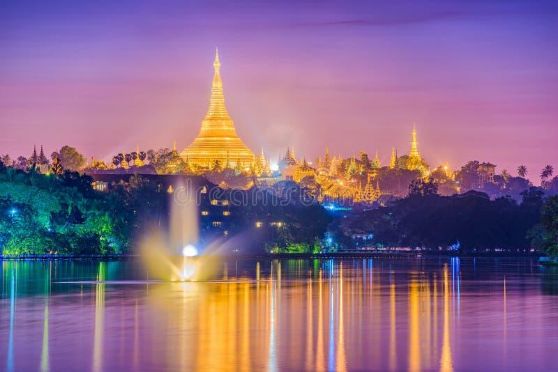 Yangon, Myanmar Pagode royalty-vrije stock foto
