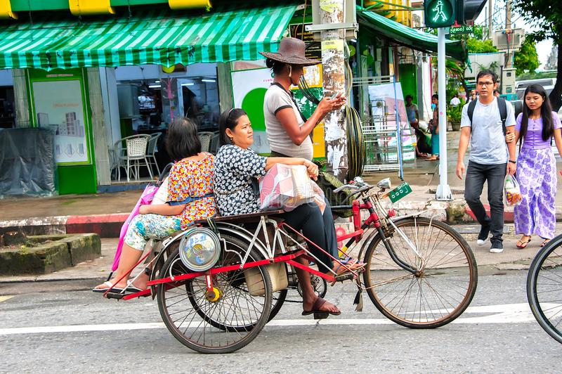 DAILY LIFE IN YANGON royalty free stock photography