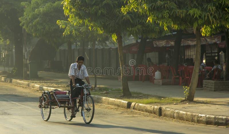 Yangon rickshaw stock photography