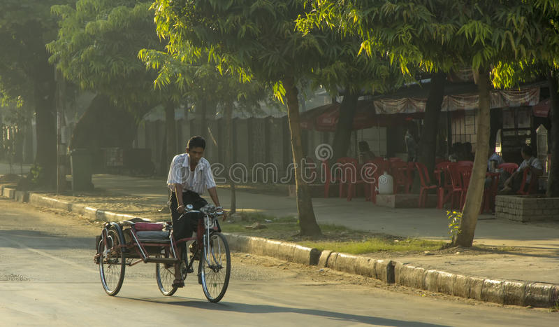 Yangon riksza fotografia stock