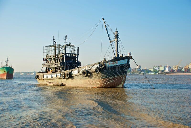 Download Yangon river transport stock image. Image of burma, water - 24684345
