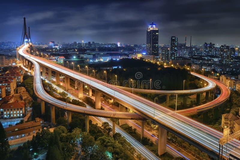 Yangpu Bridge, Shanghai stock photos