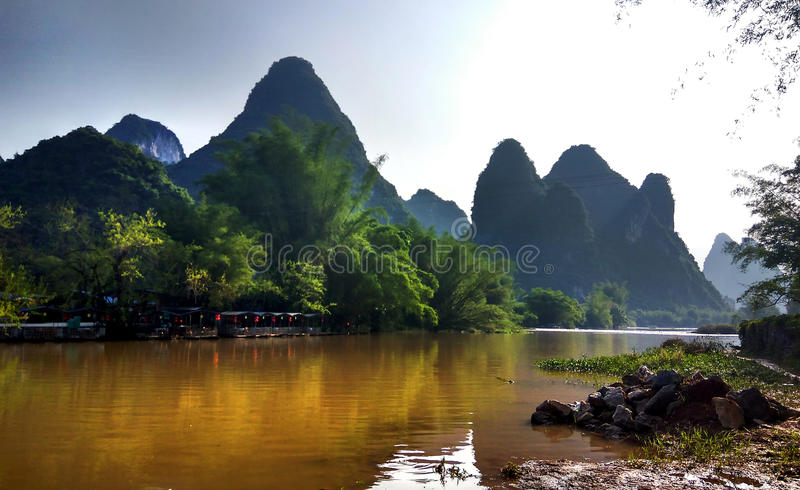 Yangshuo, Κίνα στοκ εικόνα