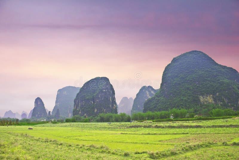 yangshuo ландшафта типичное стоковые фотографии rf