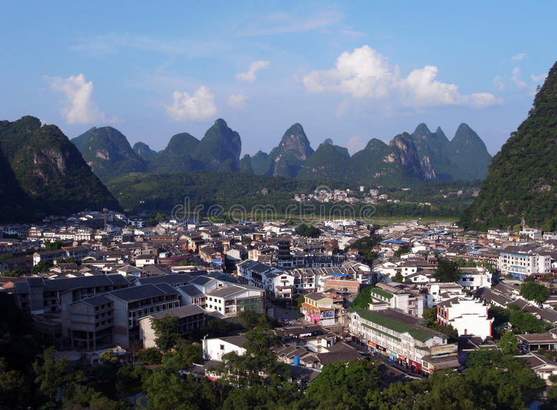 Download Yangshuo aerial view stock photo. Image of guilin, bamboo - 20630960