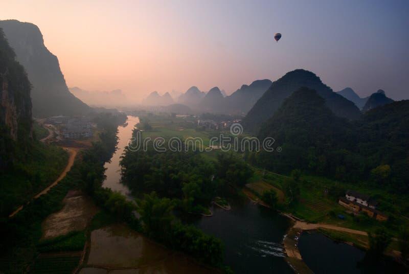 Yangshuo balonu lot IV zdjęcie stock