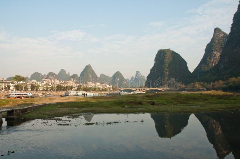 Yangshuo, china. Yulong river near yangshuo, china stock photos