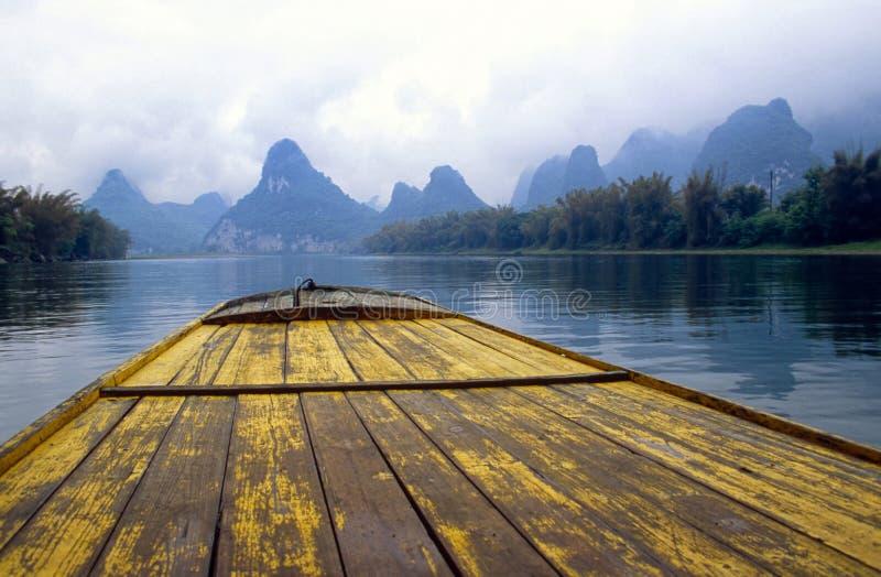 Yangshuo in China. Li River near Yangshuo in China stock photo