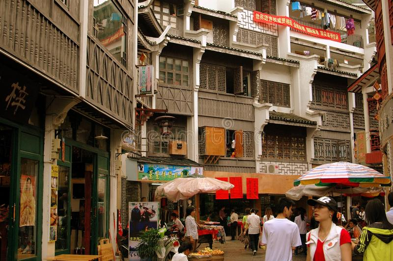 Download Yangshuo, China: West Street Wooden Buildings Editorial Photo - Image: 14659191