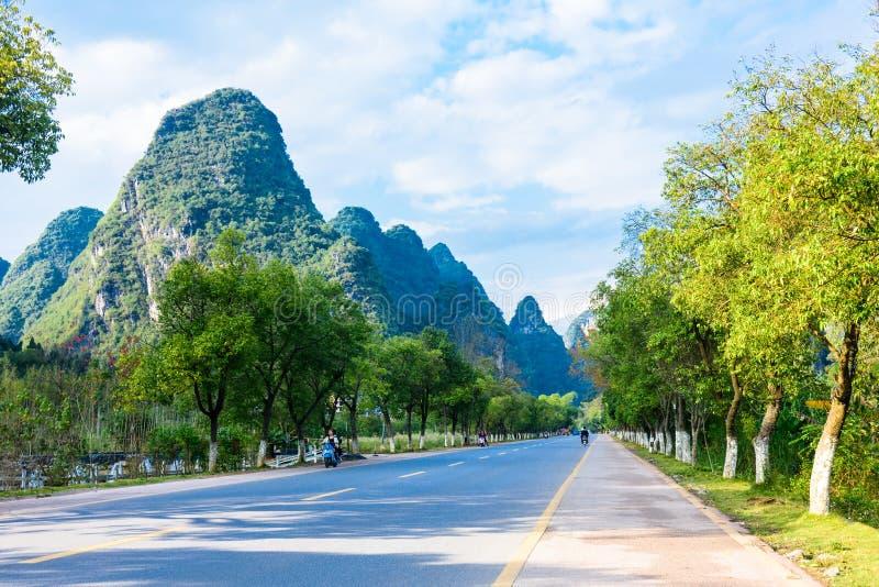Yangshuo galerie de dix milles image libre de droits