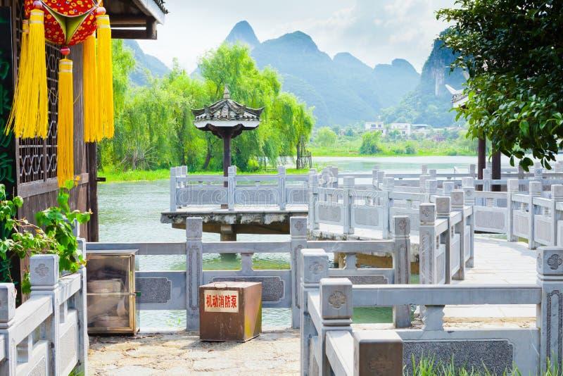 Guilin shangri la village yangshuo royalty free stock images