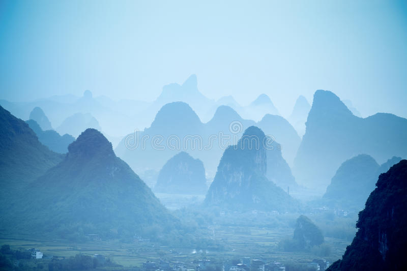Yangshuo hills royalty free stock image