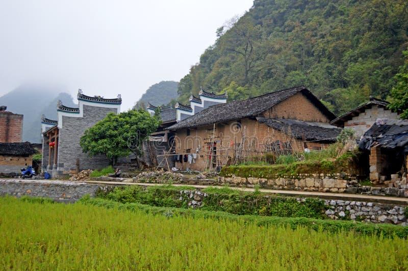 Yangshuo. Old Village Near Guilin China stock photo