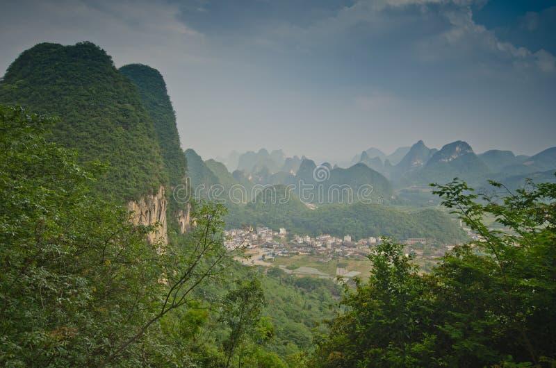 Yangshuo sceneria fotografia stock