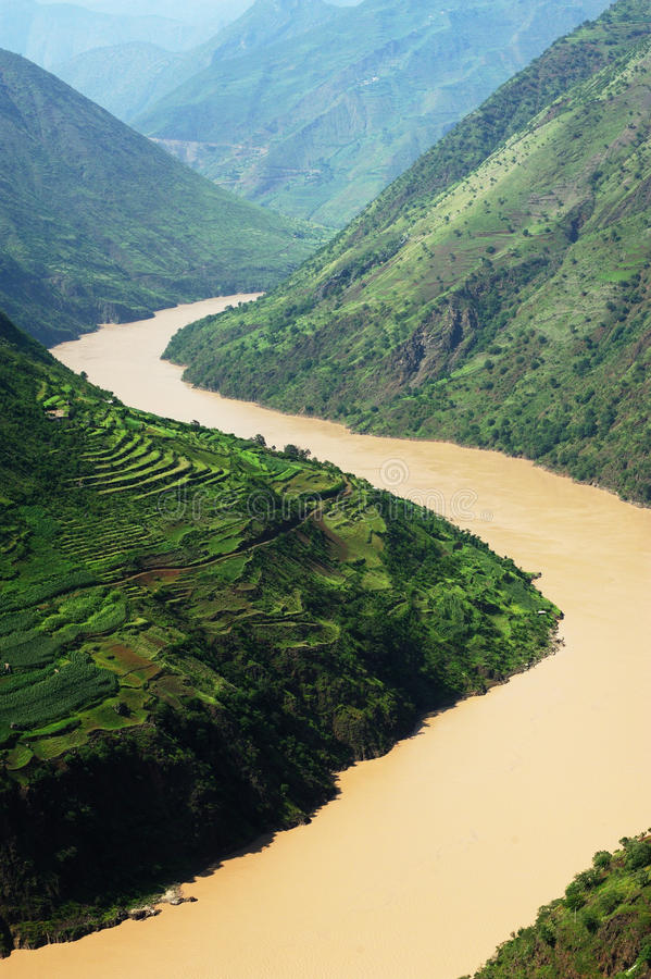 Yangtse flod royaltyfri fotografi