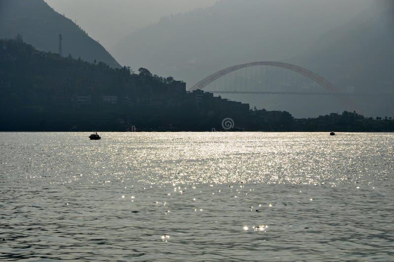 Yangtze lilla Three Gorges på Wushan Kina royaltyfri foto