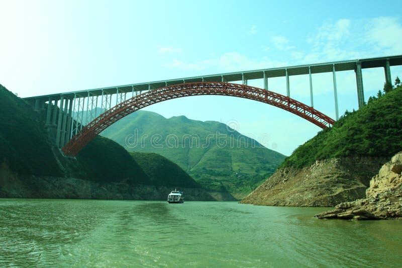 Yangtze river. Beautiful bridge cover Yangtze river royalty free stock photo