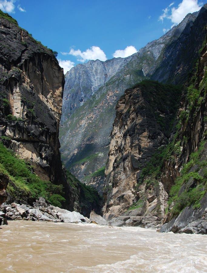 Yangtze River. Changjiang river china chinese hutiao Yangtze River Canyon Tiger Leaping Gorge stock photo