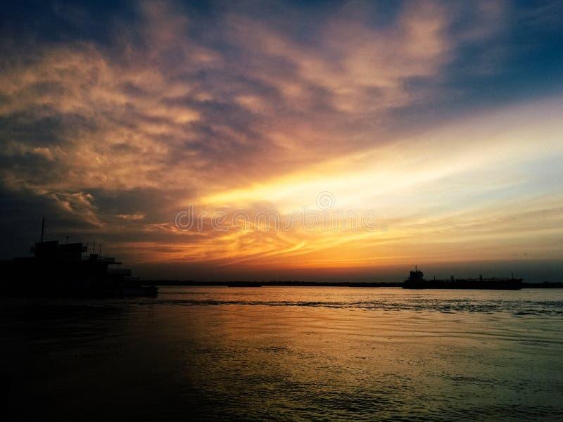 The Yangtze River sunset. The Yangtze River,the Changjiang River ,sunset,Beautiful Sunset over the Yangtze River royalty free stock photos