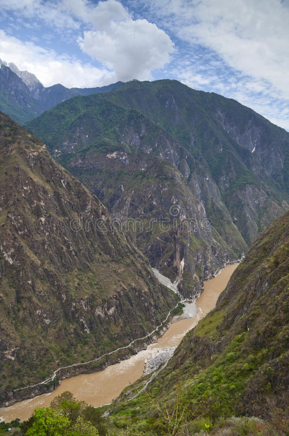 Yangtze river , China. The Yangtze River or Chang Jiang is the longest river in Asia and the third longest in the world royalty free stock photo
