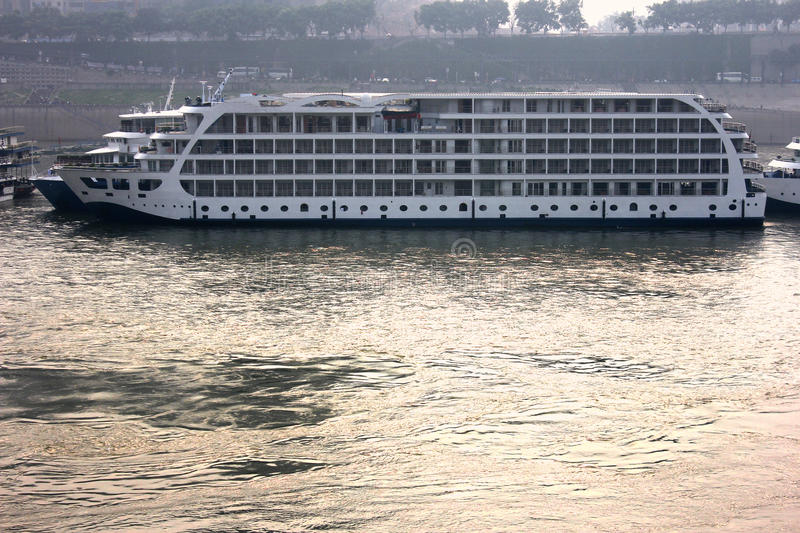 Yangtze River China River Boat Cruise Ship, Travel royalty free stock images