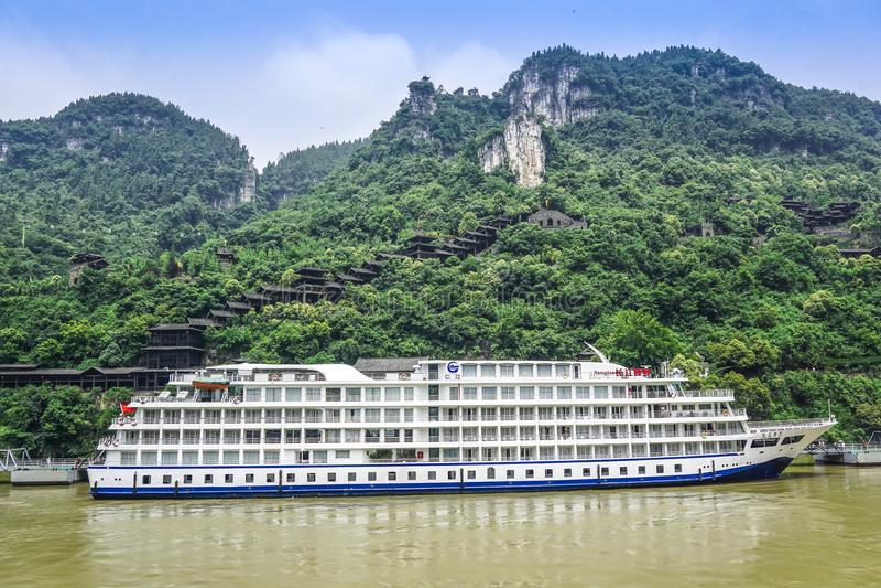 Yangtze River Cruise. Ship, Yangtze River, China stock images