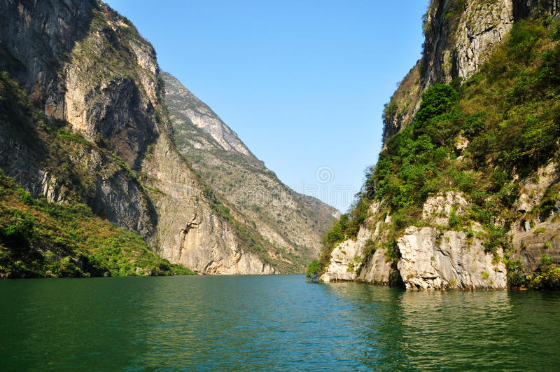 Yangtze Small Three Gorges At Wushan China. Chongqing Wushan Daning a small tributary of the Yangtze River Three Wushan Daning River Small Three Gorges royalty free stock photo