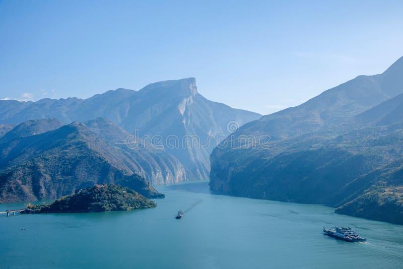 Yangtzerivier Drie de Rivierwateren van Klovenqutangxia Fengjie royalty-vrije stock fotografie