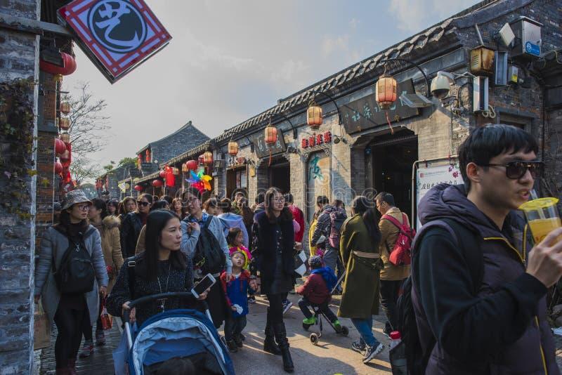 Yangzhou Dong Guan Street royaltyfria foton
