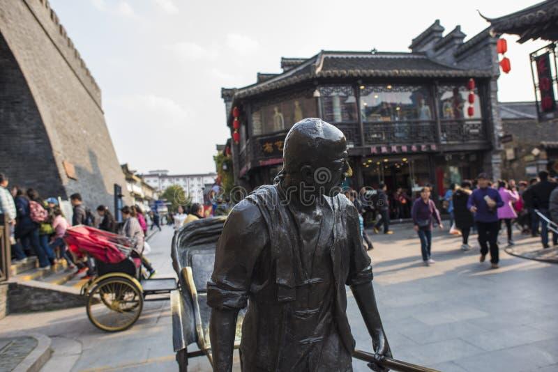 Yangzhou Dong Guan Street Street View arkivfoton