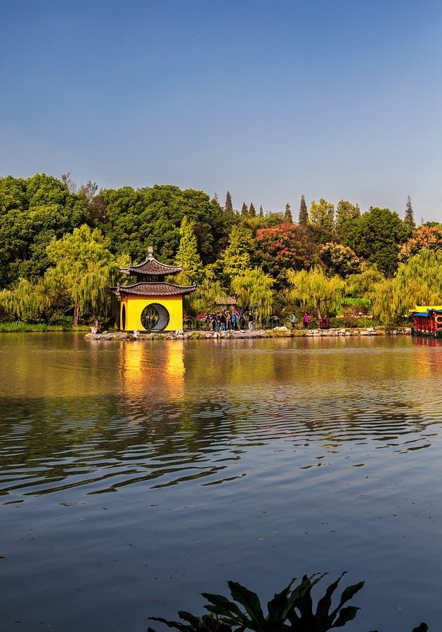 Yangzhou Nikły Zachodni jezioro fotografia stock