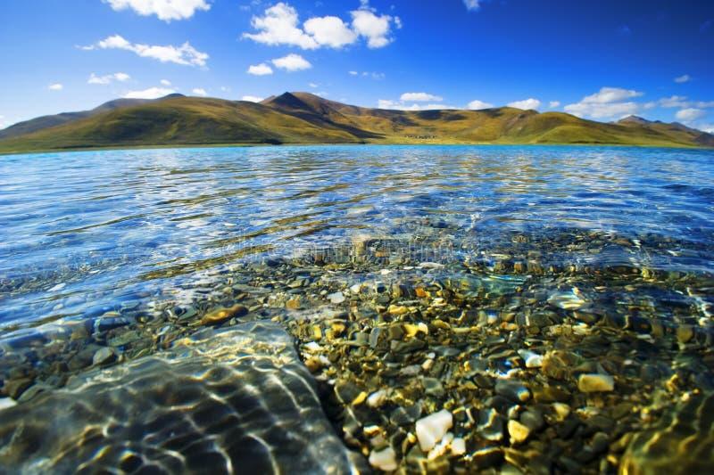 Yangzhuoyongcuo湖 免版税库存图片