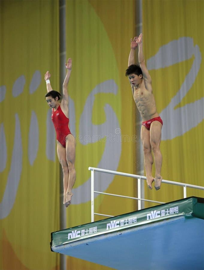 Yani Chang e TaiXiao Hu de China foto de stock