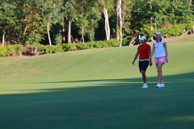 Yani Tseng no campeonato de Formosa LPGA foto de stock royalty free