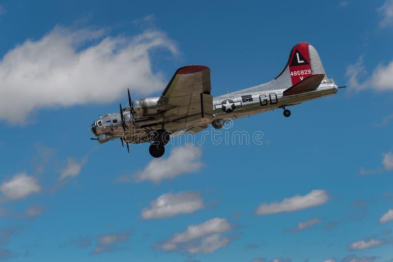 Yankee-Dame Coming herein für die Landung stockfoto