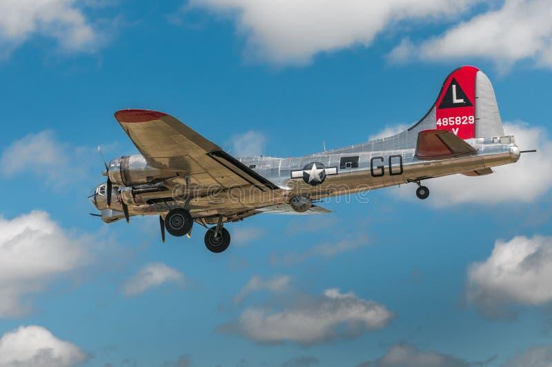 Yankee-Dame Preps For Landing stockfotografie