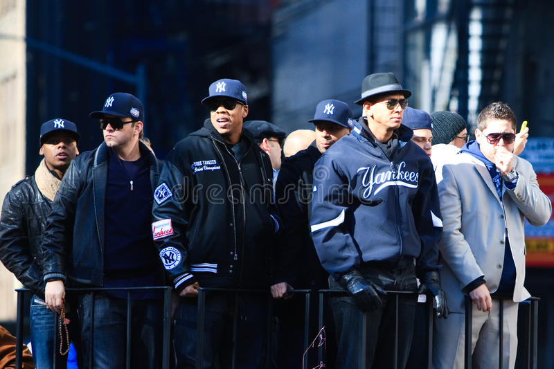 Yankee Parade - A Rod & Jay Z stock photo