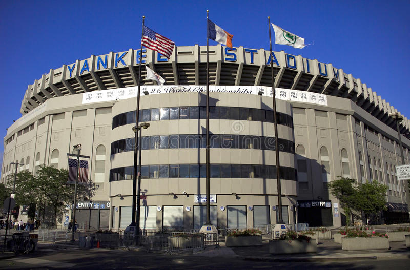 Yankee Stadium. BRONX, NEW YORK - JUNE 9: Old Yankee Stadium photographed just before it was torn down. Taken June 9, 2006 in the county of the Bronx, NY stock photos