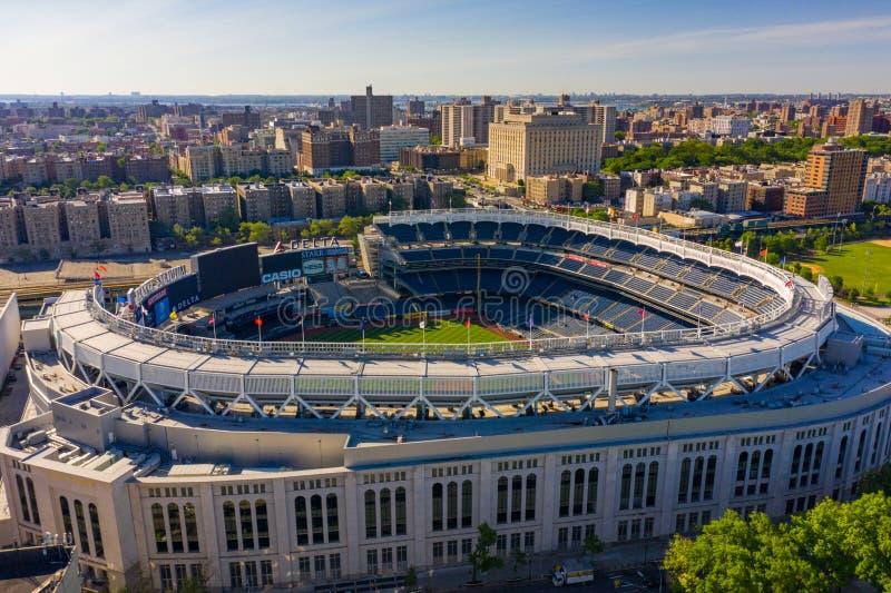 Yankee Stadium aéreo NY do pov imagem de stock