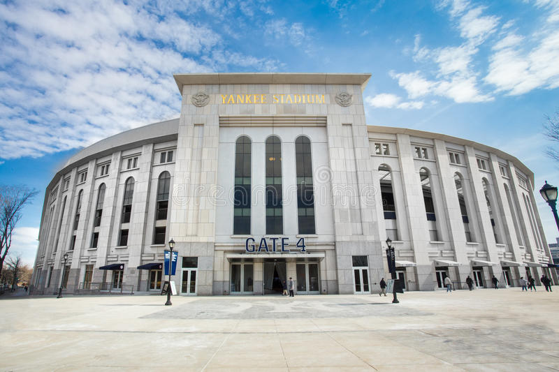 Yankee Stadium NYC. Bronx, New York City, USA - March 8, 2014: View of Yankee Stadium in the South Bronx in New York City. It is the home ballpark for the New stock images