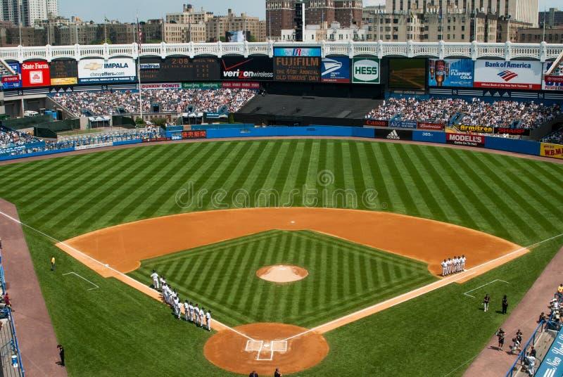 Yankee Stadium velho histórico, Bronx, New York fotos de stock royalty free