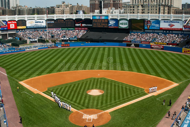 Yankee Stadium viejo histórico, Bronx, Nueva York fotos de archivo libres de regalías